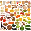 Food collection isolated on white background — Stock Photo