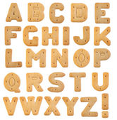 Biscuits letters isolated on white background — Stock Photo