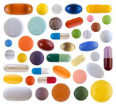 Colorful pills isolated on white background — Stock Photo