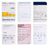 Boarding pass collection in different languages — Stock Photo