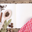 Stockfoto: Open cookery book