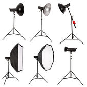 Studio lighting isolated on white background — Stock Photo