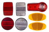 Bicycle reflectors isolated on white — Stockfoto