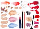 Make up products isolated on white background — Stock Photo