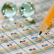 Periodic table - Stock Photo