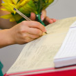 Signing marriage documents — Stock Photo #12694720