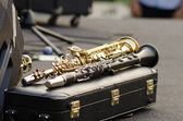 Clarinets ready for jazz — Stock Photo