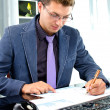 Young business man working in the office — Stock Photo #13365837