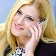 Stock Photo: Young business woman talking on the phone