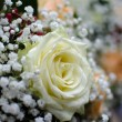 White rose of the wedding candles for the church ceremony — Stock Photo