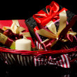 Gifts basket — Stock Photo