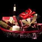 Gifts basket — Stock Photo