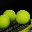 Tennis balls and racket — Stock Photo #17450797