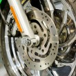 motorcycle wheel — Stock Photo #19134683