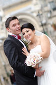 Happy in love newlyweds — Stock Photo