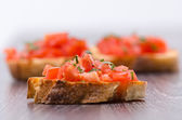 Bruschetta aux tomates — Photo
