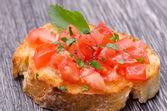 Tomato Bruschetta — Stock Photo