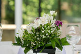 Floral wedding arrangement — Stock Photo