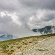 Foto Stock: Scenery with high mountains Transalpina