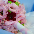 Stock Photo: Floral arrangement for baptism candle
