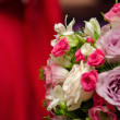Stock Photo: Weeding candle with floral arrangement