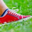 Foto de Stock  : Foot of jogging person