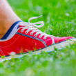 Stock Photo: Foot of jogging person