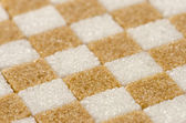 Brown and white sugar cubes — Stockfoto