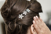 A bride's hairstyle — Stockfoto