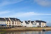 Domy v přístavu camaret sur mer, francie — Stock fotografie