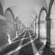Colonnade in a building of Aranjuez, Madrid - ストック写真