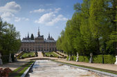 Royal Palace of La Granja de San Ildefonso and gardens, Segovia, Spain — Stock Photo