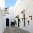 Typical Andalusian street with whitewashed houses — Stock Photo