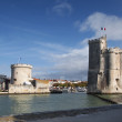 Stock Photo: Towers of port of LRochelle, France