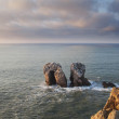 Some rocks in the sea, Cantabric door, Spain - Stock Photo