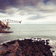 Old loading coal on the coast of mioo, cantabria, Spain - Stock Photo