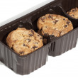 Stock Photo: Cookies packaged in brown plastic container