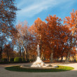 Ornamental fountain in the gardens of the Royal Palace of Aranjuez - ストック写真