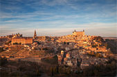 Panoramic view of the city of Toledo, during sunset — Stock Photo