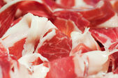 Tipical spanish ham, jamon iberico — Stock Photo