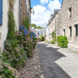 Typical street in Brittany, France — Stock Photo
