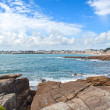 Quiberon city view from the cliffs — Stock Photo