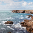Cliffs and ocean on the coast of Quiberon — Foto Stock