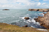 Cliffs and ocean on the coast of Quiberon — Stock Photo