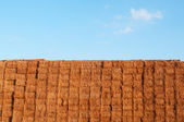 Many straw or hay bales stacked on a big pile, La Rioja, Spain — Stock Photo