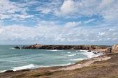 Klify i oceanu na wybrzeżu quiberon — Zdjęcie stockowe