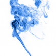 Blue smoke isolated on white background — Stock Photo