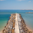 Breakwater in Algarve beach, Portugal — Stock Photo #38421267