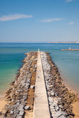 Breakwater in Algarve beach, Portugal — Stock Photo