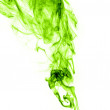 Real green smoke on white background — Stock Photo #38672587